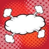 Komisk anförandebubbla, komisk backgound Royaltyfri Fotografi
