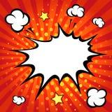 Komisk anförandebubbla, komisk backgound Royaltyfria Bilder