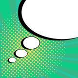 Komisk anförandebubbla på grön bakgrund Vektorillustration i popet Art Style stock illustrationer
