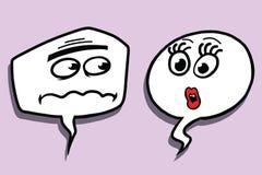 Komisk bubblaframsidaman och kvinnlig dialog royaltyfri illustrationer