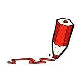 komisk färgad blyertspenna för tecknad film teckning stock illustrationer