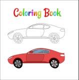 Komisk för bakgrundsvektor för tävlings- bil som illustration färgar sidan för ungar Automatisktrafik och hastighet Springa bil f stock illustrationer