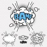 Komisk illustrationeffekt för vektor BANF stock illustrationer