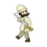 komisk jägare för stor lek för tecknad film Royaltyfri Fotografi