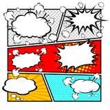 Komisk mallvektor Stock Illustrationer