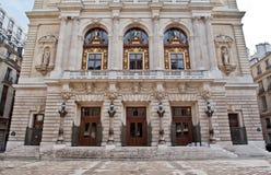 Komisk opera i paris Frankrike Royaltyfri Bild