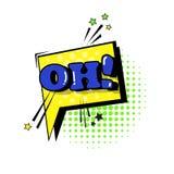 Komisk pop Art Style Social Media Communication för symbol för Stciker pratstundbubbla Royaltyfri Foto