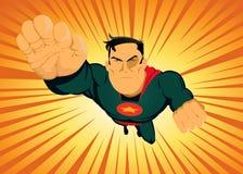 komisk snabb rasande superhero Arkivbilder
