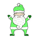 komisk tecknad film fula Santa Claus Arkivfoto