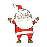 komisk tecknad film lyckliga Santa Claus Royaltyfri Foto