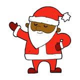 komisk tecknad film Santa Claus Royaltyfri Fotografi
