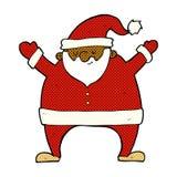 komisk tecknad film Santa Claus Arkivfoton