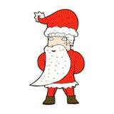 komisk tecknad film Santa Claus Arkivfoto