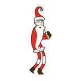 komisk tecknad film Santa Claus Royaltyfri Foto