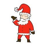 komisk tecknad film Santa Claus Arkivbild