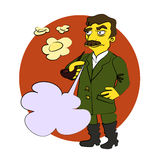 Komisk tecknad film Stalin royaltyfri illustrationer
