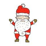komisk tecknad film vresiga santa Arkivfoton