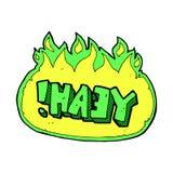 komisk tecknad film yeah! rop Royaltyfria Foton