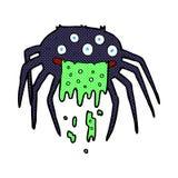 komisk tecknad filmbruttohalloween spindel Arkivfoton