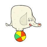 komisk tecknad filmcirkuselefant Arkivfoto