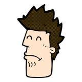 komisk tecknad filmman som känner sig sjuk Royaltyfri Fotografi