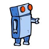 komisk tecknad filmrobot Royaltyfria Bilder