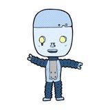 komisk tecknad filmrobot Royaltyfri Bild