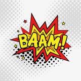 Komisk text, stil för popkonst BAAM Fotografering för Bildbyråer