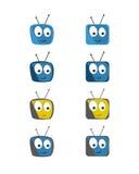 Komisk TVsymbolsset Royaltyfri Bild