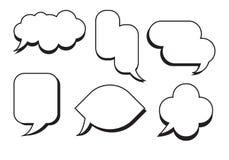 Komisk vektor för uppsättning för textanförandebubbla Tomt askutrymme för dialog Arkivbilder