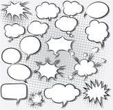 Komiska anförandebubblor Arkivfoto