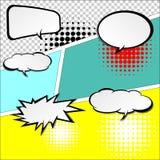 Komiska anförandebubblor Arkivfoton