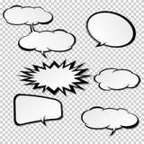Komiska anförandebubblor Stock Illustrationer