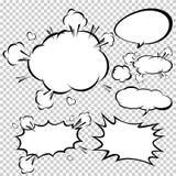 Komiska anförandebubblor, vektorillustration Royaltyfria Bilder
