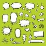 Komiska element vektor illustrationer