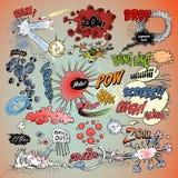 8 komiska eps-explosioner för den extra boken formaterar illustratörvektorn Arkivfoton