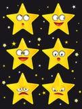komiska stjärnor Fotografering för Bildbyråer