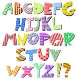 Komiskt alfabet Fotografering för Bildbyråer