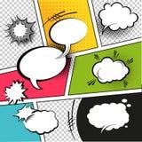 Komiskt remsaanförande bubblar royaltyfri illustrationer