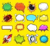 Komiskt anförande bubblar vektorn Arkivfoto