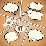 Komiskt remsaanförande bubblar stock illustrationer