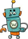 Komiskt robottecknad filmtecken Royaltyfri Bild