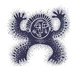 Komiskt tecken, roligt främmande monster för vektor Emotionell expressio Fotografering för Bildbyråer