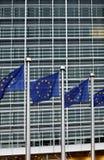 komisowe europejskie flaga Fotografia Royalty Free