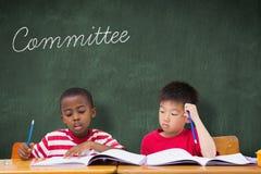 Komitet przeciw zielonemu chalkboard zdjęcie stock