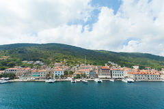 Komiza a city on the island Vis in Croatia in the Adriatic sea Royalty Free Stock Photos