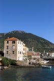 Komiza gammal stad Arkivfoto