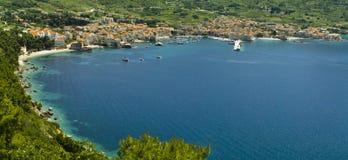 Komiza, Vis eiland Kroatië stock afbeelding