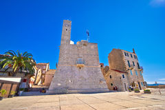Komiza on Vis island famous landmark Stock Photography