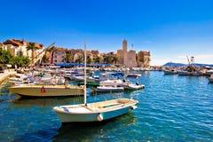Komiza on Vis island turquoise waterfront Royalty Free Stock Photos